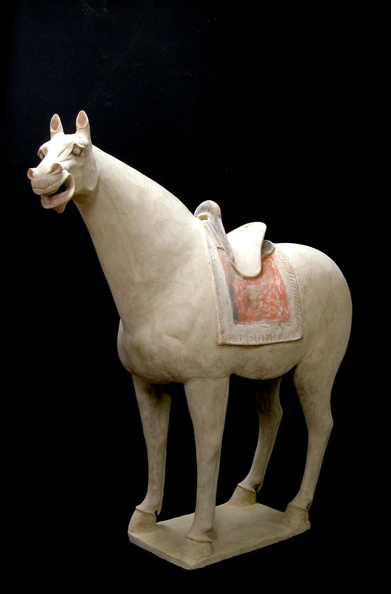 Large Terracotta Saddled Horse, China, Tang Dynasty (618-907)