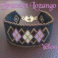 Bracelet Lozango bleu