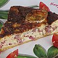 Tarte au mascarpone bacon et lardons