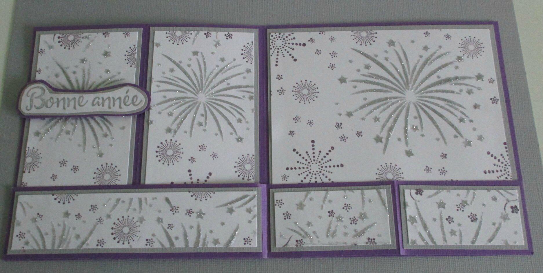 c voeux 16 glitter violet aplat