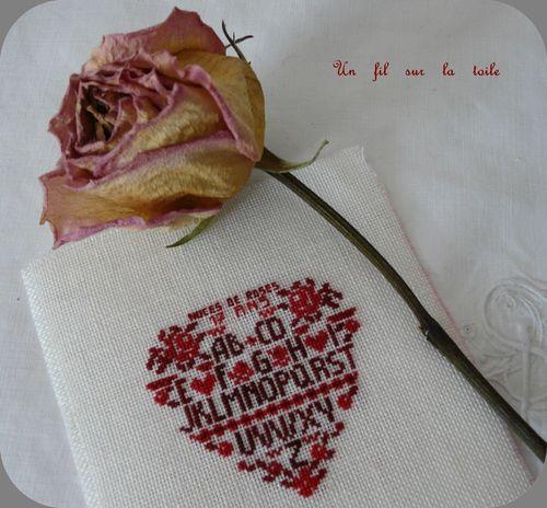 17 ans, noces de roses. Carnet de broderies n°6