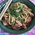 Udon au saumon à la pâte de miso