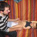 Valentin et son papa
