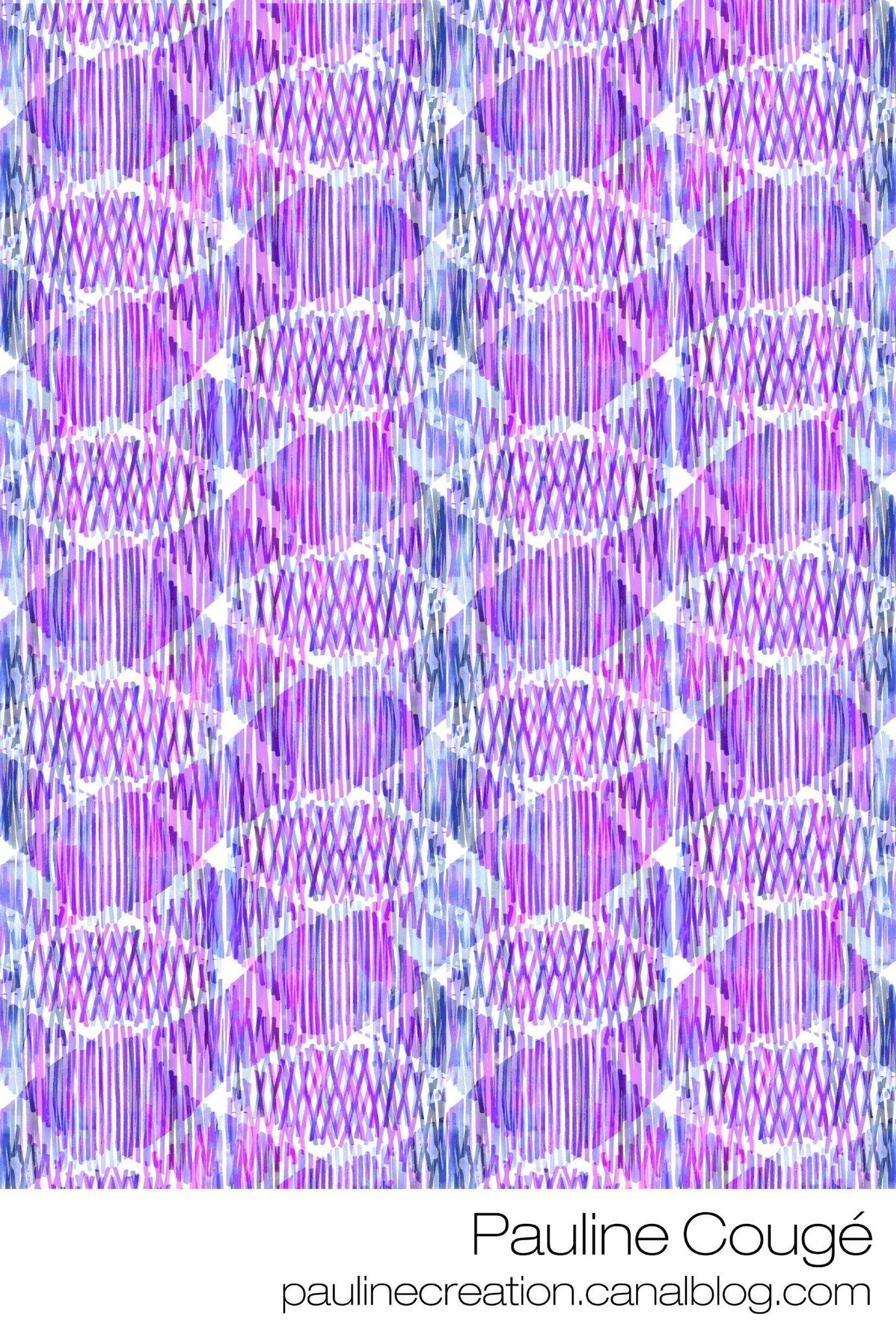 motif bleu double