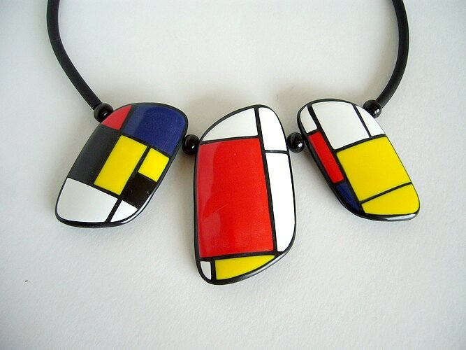 mondrian collier triple pendant