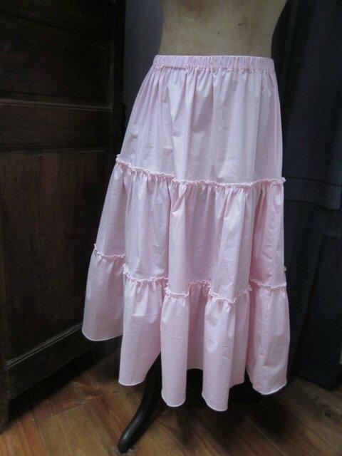 Jupon CLEMENTINE en coton rose (2)