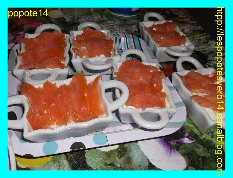 verrine au saumon