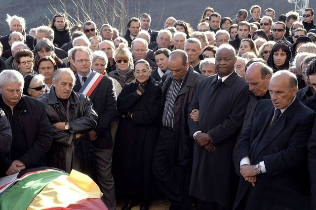 Les obsèques de Robert Feliciaggi