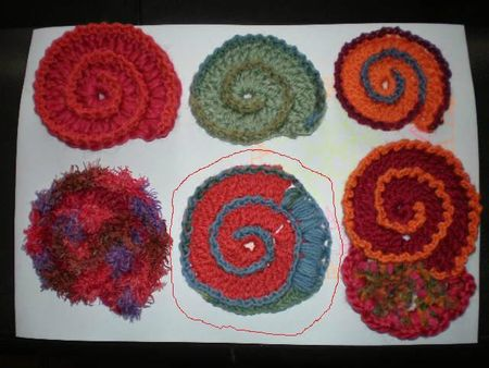 spirale f