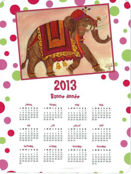 calendrier aimanté 2013