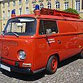Volkswagen combi type 2 tôlé freiwillige feuerwehr leinweiler équipé par ziegler