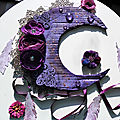 Crescent moon dream catcher : mixed media and art challenge