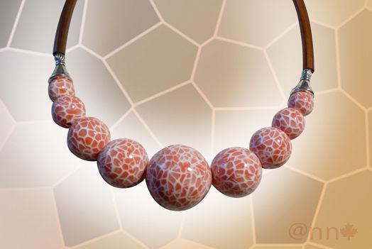 Collier effet mosaïque Corail AC (N)