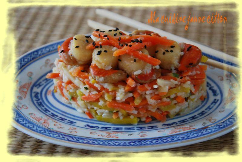 Wok De St Jacques Aux Légumes Ma Cuisine Jaune Citron
