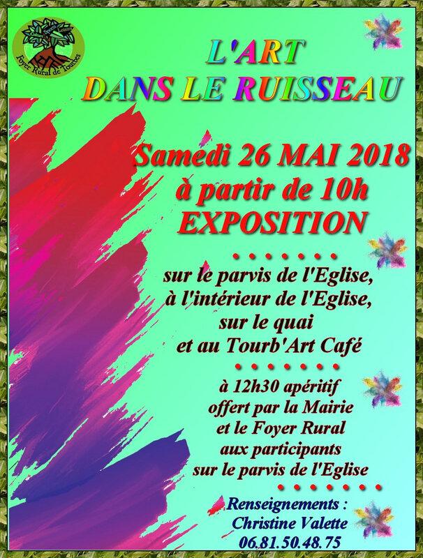 L'ART DANS LE RUISSEAU 26 MAI 2018