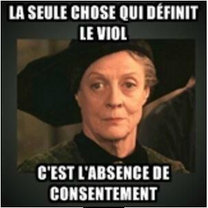 et même que la professeure McGonagall est d'accord avec moi