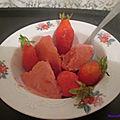Parfait aux fraises á l'ancienne