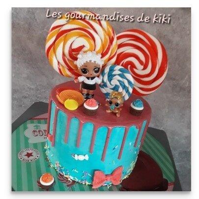 Framboisier en layer drip cake