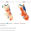 usa-Chicago average individual income by census tract, 1970 and 2017
