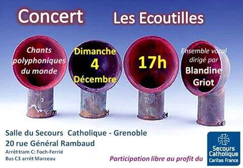 premier concert de l'année des Ecoutilles au Secours Catholique de Grenoble