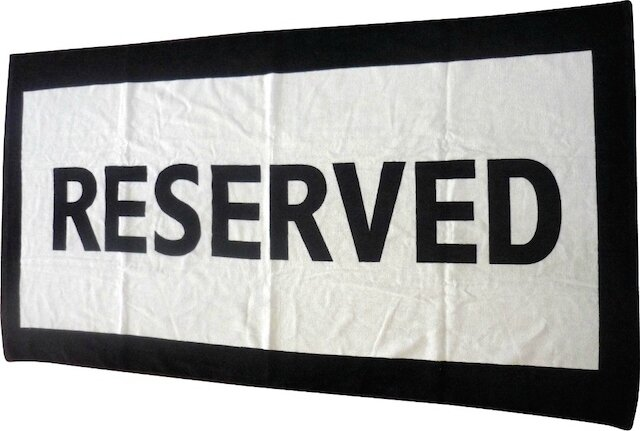 coolgift serviette de plage reserved 2