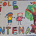 Panneau pour l'école du chêne centenaire de nouvoitou, avril 2017