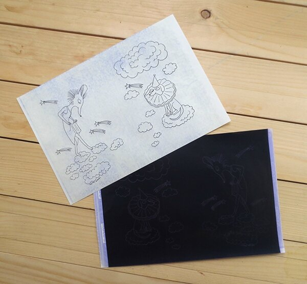 coloriage roneo noir blog