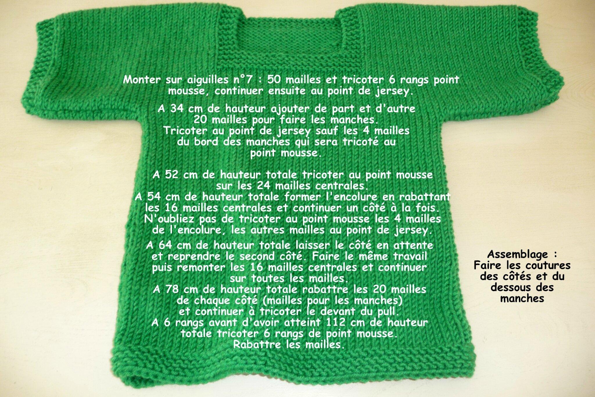 4ae4dcefbde8 Une envie de vert pressante   Ce pull très facile à faire