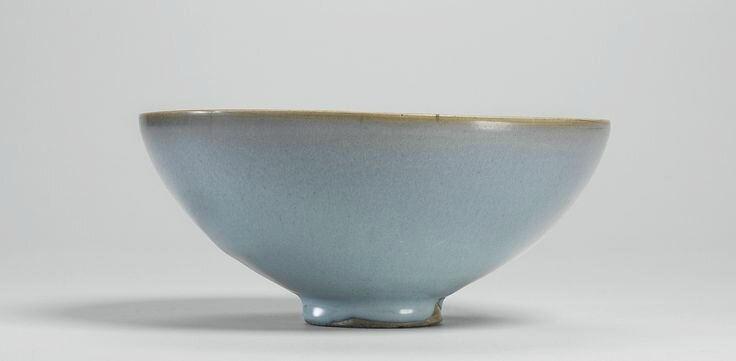 A large sky-blue 'Jun' bowl, Northern Song - Jin dynasty
