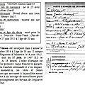 Gaston vinson mort pour la france le 17 juin 1915