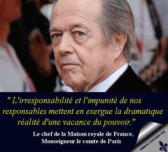 Monseigneur le Comte de Paris- message 1