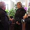 Evelyne dhéliat à l'exposition d'orchidées à chantilly.présentation de l'orchidée evelyne dhéliat. vendredi 27/11/15.