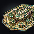 An enamelled and diamond-set suite of paan boxes, hyderabad, deccan, 1760-1780