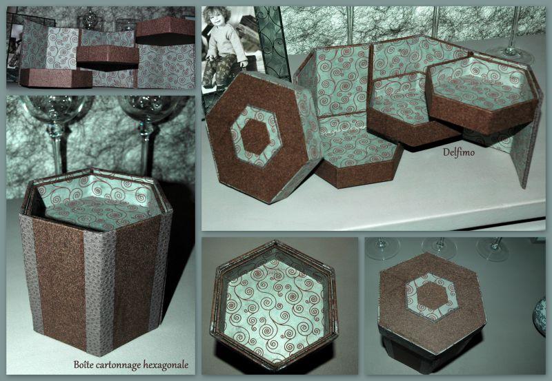 Boîte cartonnage hexagonale