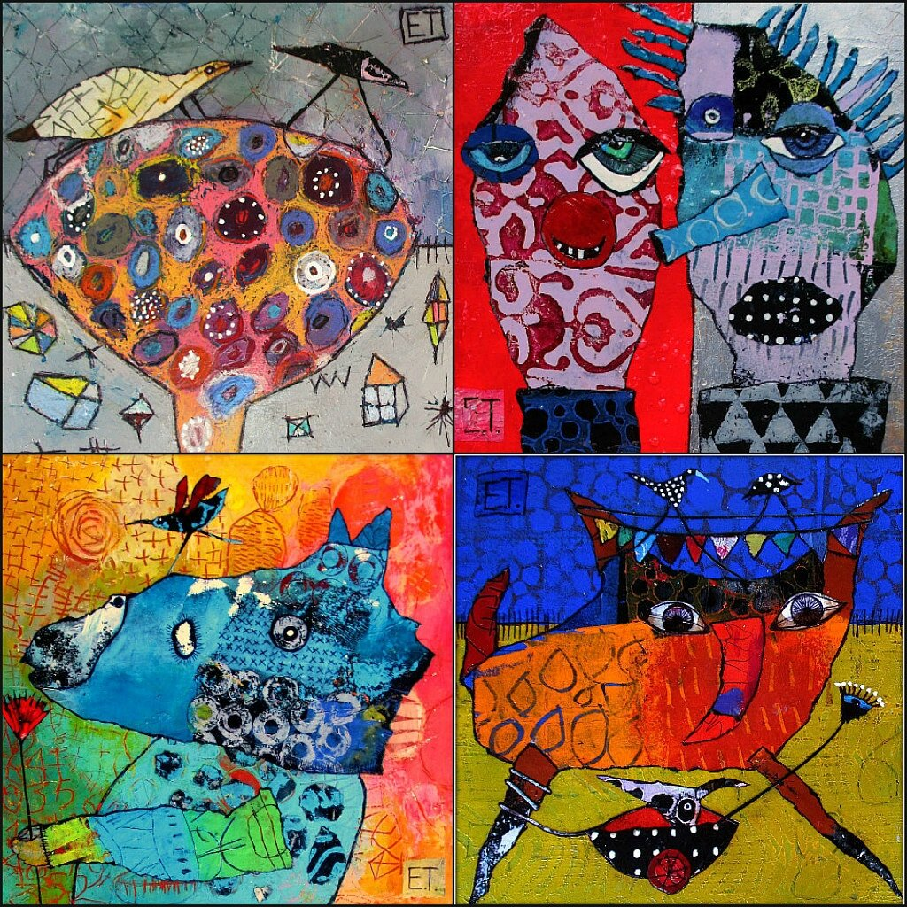 Ribbet collager