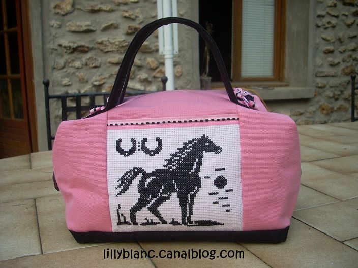 Sac rose cheval