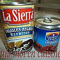 Crema de frijoles al chipotle (mexique)
