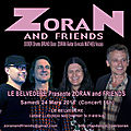 Samedi 24 mars à 16h00 concert zoran and friends