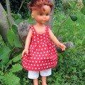 robe poupée rouge