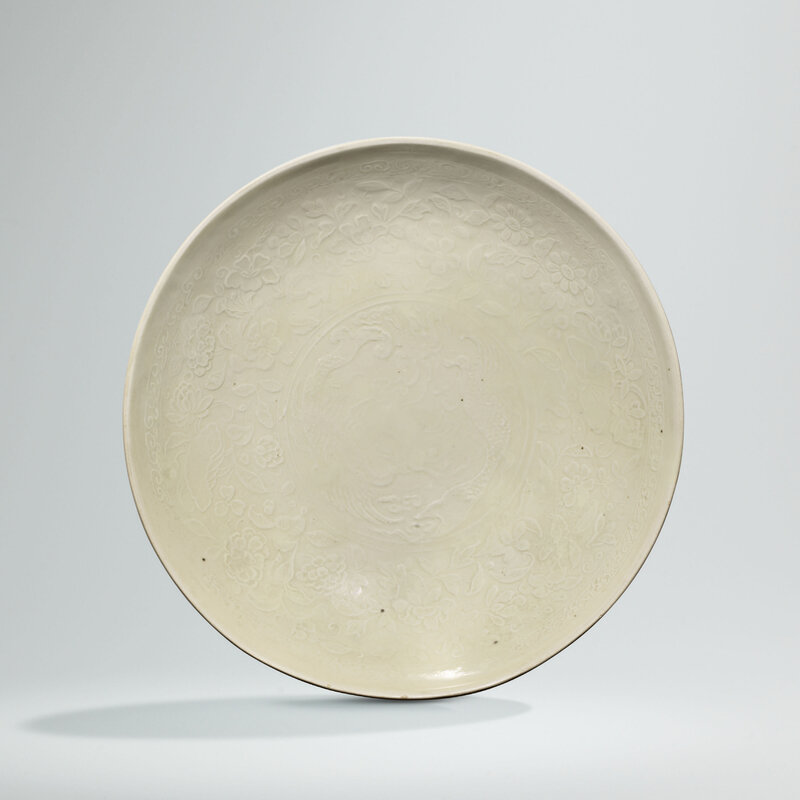 A moulded Ding white-glazed makara dish, Northern Song dynasty-Jin dynasty (960-1234)
