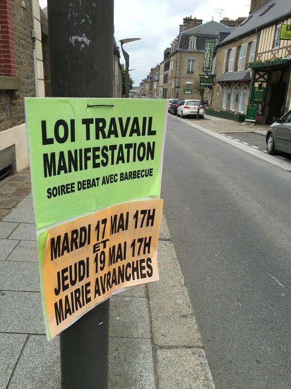 rassemblement loi travail Avranches 17 19 mai 2016