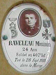 RAVELEAU Maximin Arsène - Classe 1914