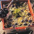 Crumble courgettes et olives