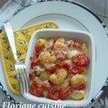 Gnocchis aux poivrons gratinés aux fromages