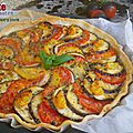 Tarte tomates et aubergine