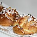Dunes blanches ou chouquettes à la crème chantilly vanillée