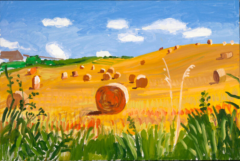 David Hockney, 'Kilham to Langtoft II, 27 July 2005'
