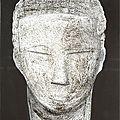 Huile sur toile 65x54 tête ( nubie ancienne )