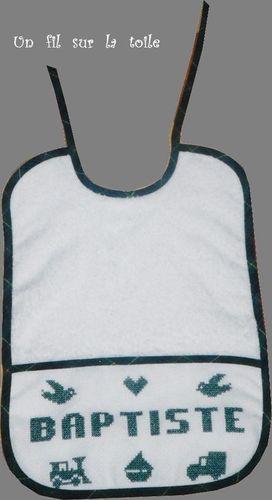 1999 09 - Bavoir naissance, modèle Le Marquoir