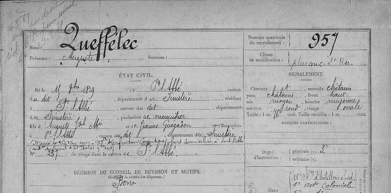 FM 957 Auguste Le Queffelec Classe 1899_1